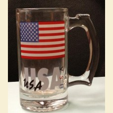 USA American Flag Glass Mug